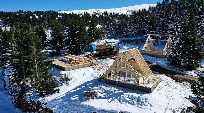 Çambaşı Kayak Merkezi'ne Bungalov Evler Yapılıyor