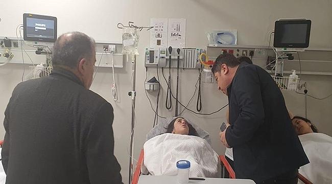 Başkan Tören yaralıları hastanede ziyaret etti