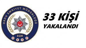 Ordu'da 11 kişi tutuklandı