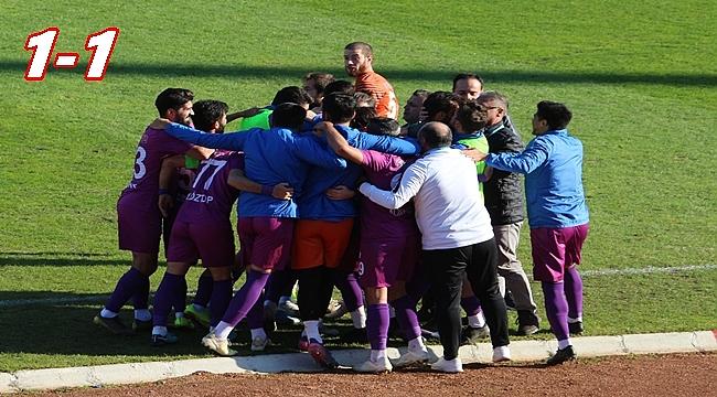 Yeni Orduspor Erzincan'dan puan aldı