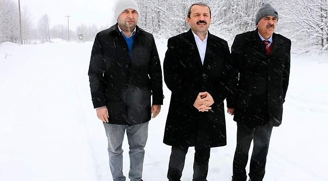 Akkuş'ta karla mücadele başladı
