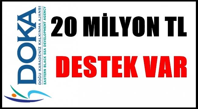 DOKA 3 ayrı destek programına 20 milyon Tl bütçe ayırdı