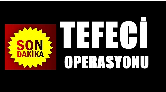 Ordu'da tefecilik operasyonu: 2 tutuklama