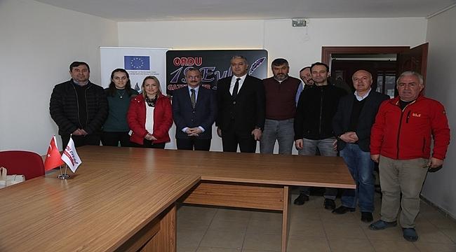 Emniyet Müdürü Doğu Ateş 19 Eylül Gazeteciler Derneği'ni Ziyaret Etti