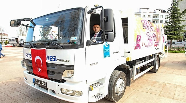 Fatsa Belediyesi 13 yeni araç satın aldı