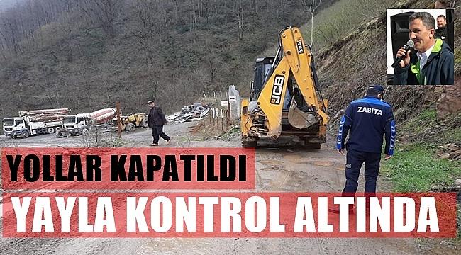 Başkan Kaya: Ara yolları kapattık ulaşım tek yoldan sağlanıyor