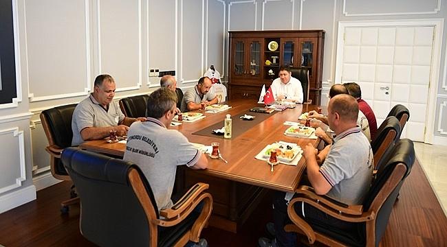 Başkan Tören'le makamında kahvaltı yaptılar