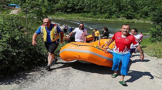 Ordu rafting sporuyla tanışıyor