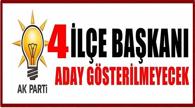 AK Parti 4 İlçede yeni aday gösterecek