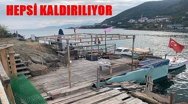 Kıyılardaki kaçak yapılar kaldırılıyor