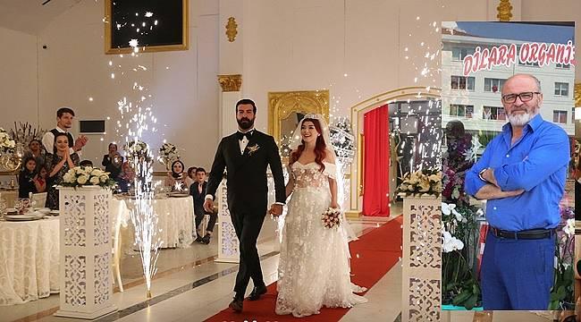 Kuzey ile Yıldız'ın düğününü Dilara Çiçekçilik ve Organizasyon gerçekleştirdi