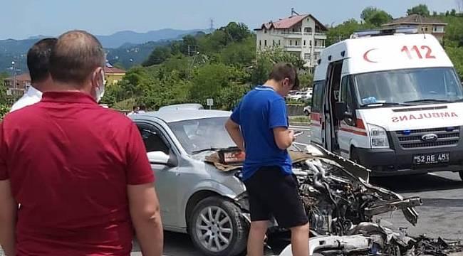 Feci kazada yaralılar var