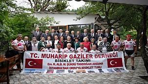 İstanbul'dan Ordu'ya komutanlarına vefa için pedalladılar