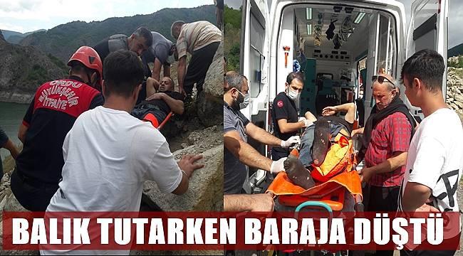 Ordu'da baraja düşen vatandaşı itfaiye kurtardı