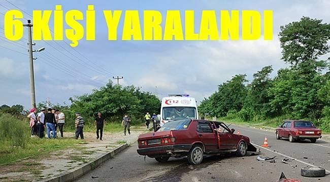 Ordu'da meydana gelen trafik kazasında 6 kişi yaralandı