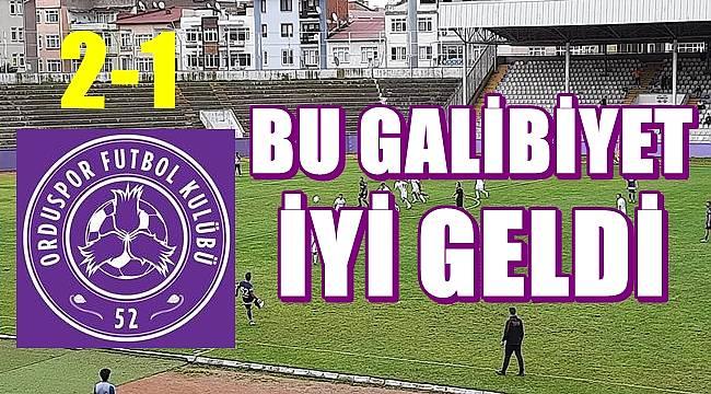 52 Orduspor Aksaray Belediyespor'u 2-1'lik skorla geçti