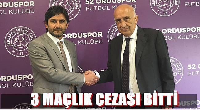 52 Orduspor'da Cüneyt Tiryaki bu hafta takımın başında olacak