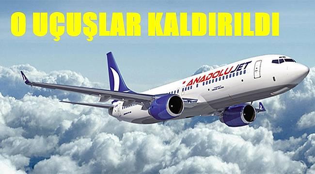 Anadolu Jet Ordu Giresun'dan O Kente artık uçmayacak