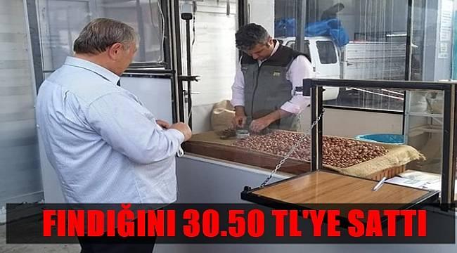Arif Gündüz fındığını TMO'ya 30.50 TL'ye sattı
