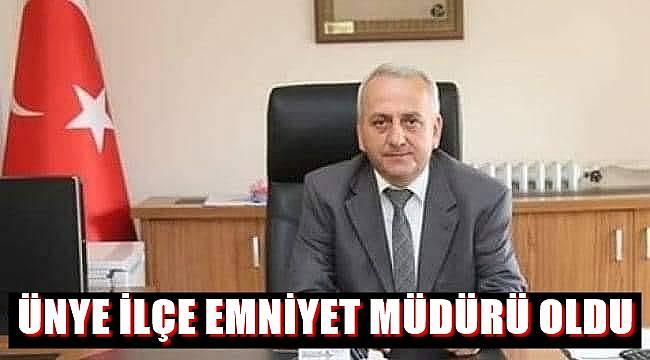 Mustafa Avni Aktürk Ünye İlçe Emniyet Müdürü oldu
