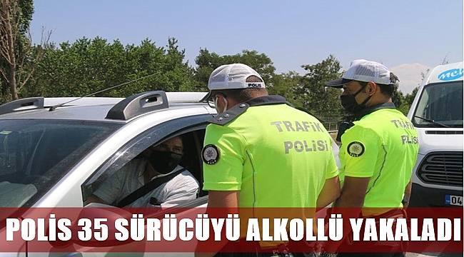 Ordu'da polis 35 sürücüyü alkollü yakaladı