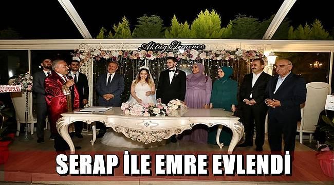 Serap Yıldız ile Emre Angın evlendi