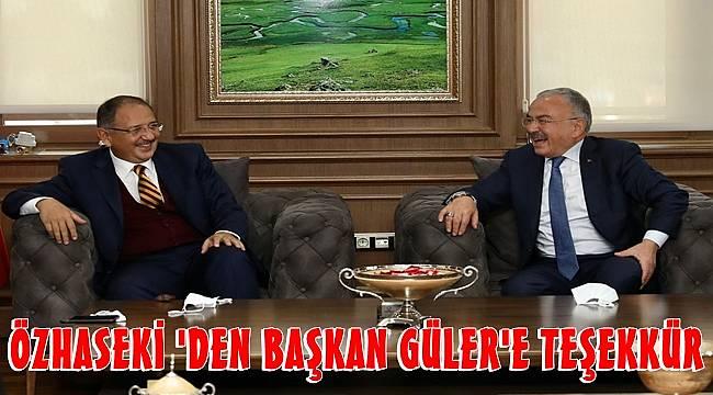 Başkan Güler , Özhaseki'yi ağırladı