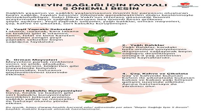 Beyin sağlığı için 5 önemli besin
