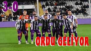 Orduspor 1967, Ağrıspor'u farklı geçti: 3-0