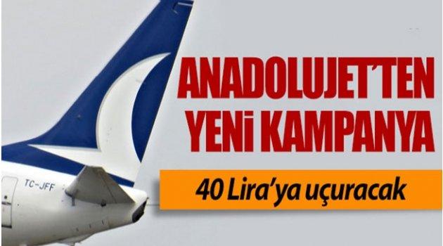 ANADOLU JET ANKARA-İSTANBUL'A 40 LİRADAN UÇURACAK