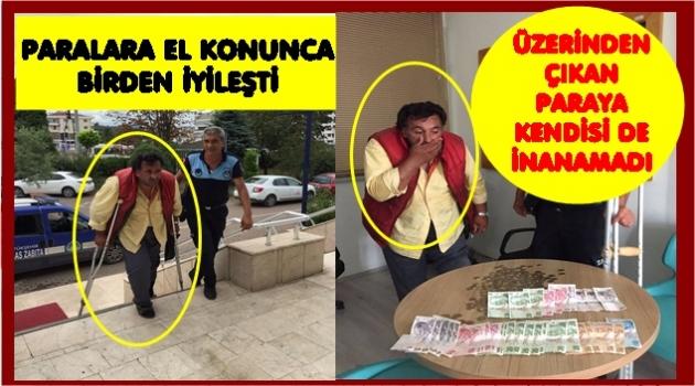 DİLENCİNİN İKİ SAATLİK HASILATI 729 TL
