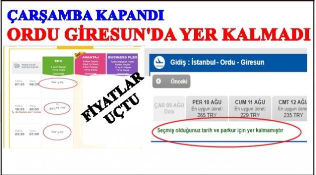 ORDU GİRESUN'DA YOLCU PATLAMASI!
