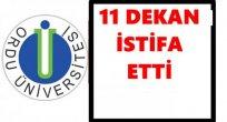 DEKANLARIN İSTİFASI KABUL EDİLDİ