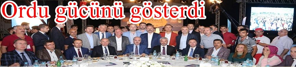 ORDU'NUN DERELERİ İSTANBUL'A AKTI